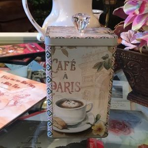 French theme tea or coffee Cannister